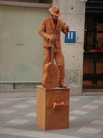 Estatua humana Flamenco