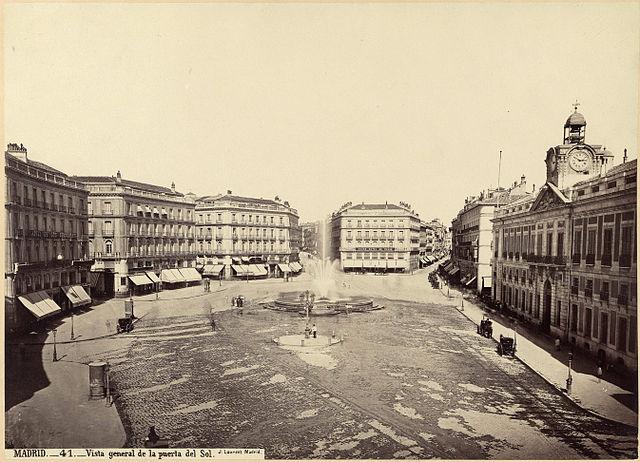 Puerta del Sol hacia 1870