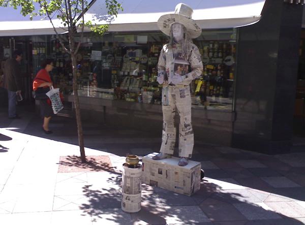 Estatua humana Paperman