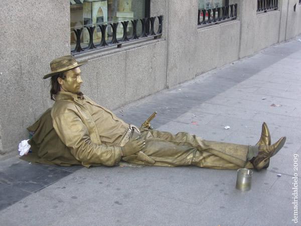Estatua humana El Pistolero